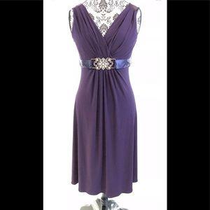 Scarlett Nite Purple Sleeveless Dress